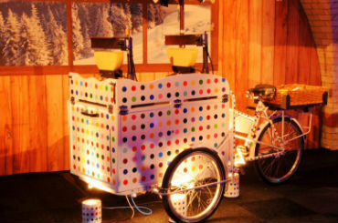 Hire / Book raclette tricycle cheese stall