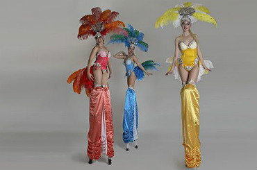 hire the divine stiltwalkers