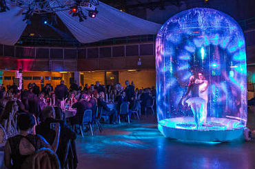 Hire enchanted snowglobe acrobalance act