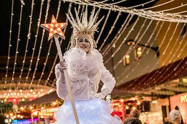 Snow Queen Stilt Walkers